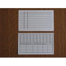 Картка облікового каталогу (сигловані).  Білий картон.  Одностороння