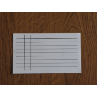 Каталожна картка. Лінована без отвору.