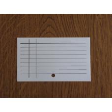 Каталожна картка. Лінована з отвором.