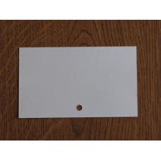 Каталожна картка. Нелінована з отвором.